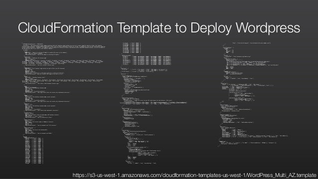 Dev test on aws journey through the cloud for Cloudformation template generator