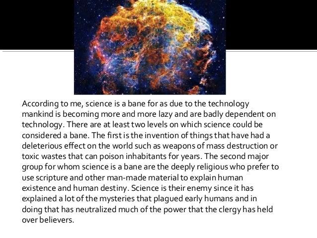 science is a curse debate