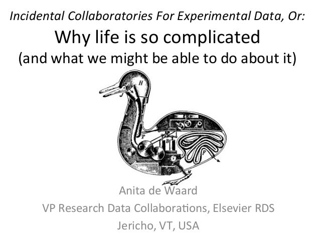 Incidental Collaboratories For Experimental Data, Or:             Why life is so complicated    ...