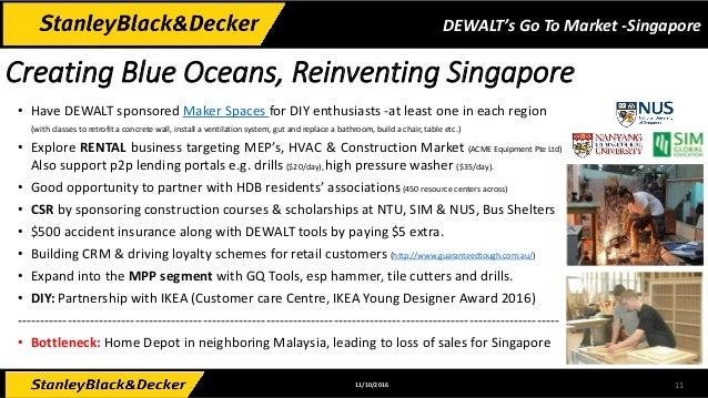 DeWalt's Go To Market for Singapore