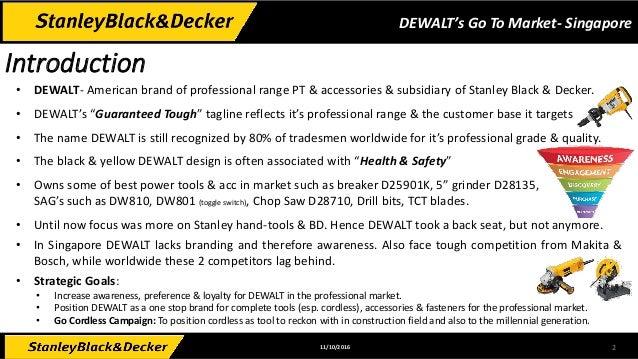 DeWalt's Go To Market for Singapore Slide 2