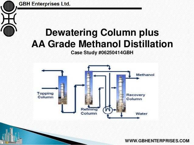 Dewatering Column plus AA Grade Methanol Distillation Case Study #06250414GBH WWW.GBHENTERPRISES.COM