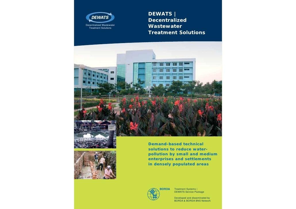 DEWATS |                           DecentralizedDecentralized Wastewater  Treatment Solutions      Wastewater             ...