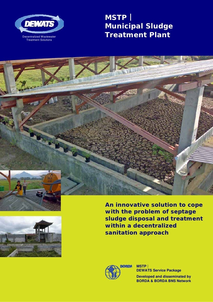 MSTP |                           Municipal SludgeDecentralized Wastewater   Treatment Plant  Treatment Solutions          ...