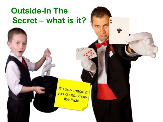 Outside-In TheSecret – what is it?             It's only                       ma            you do n gic if              ...