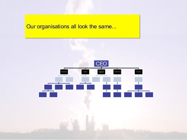 Our organisations all look the same...                                  CEO                                  Customer     ...