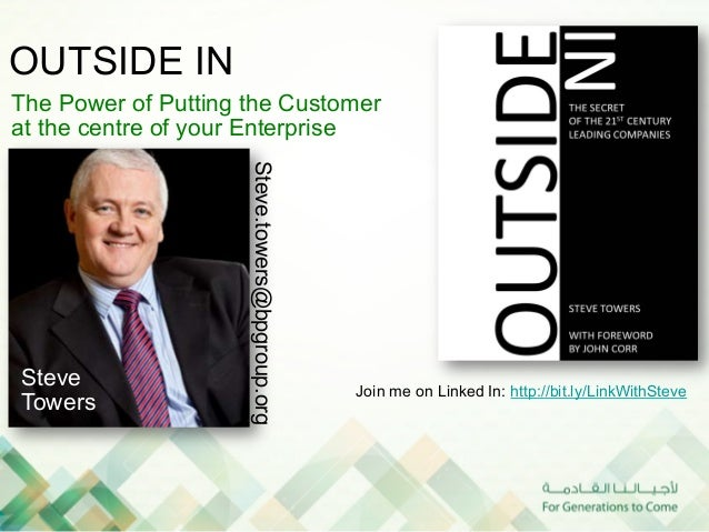 OUTSIDE INThe Power of Putting the Customerat the centre of your Enterprise                     Steve.towers@bpgroup.orgSt...