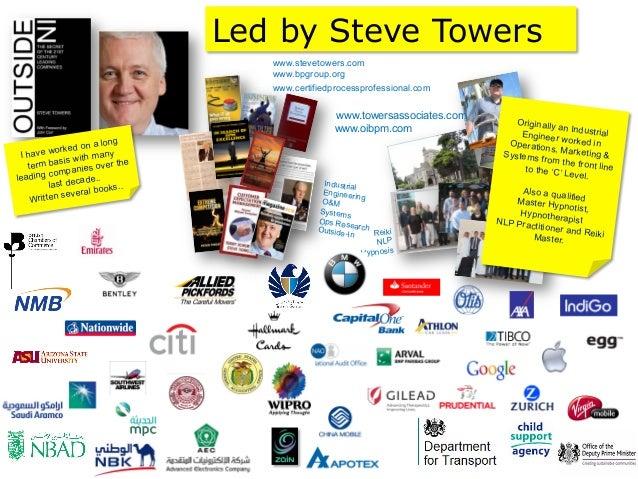 Led by Steve Towers                                    www.stevetowers.com                                    www.bpgroup....