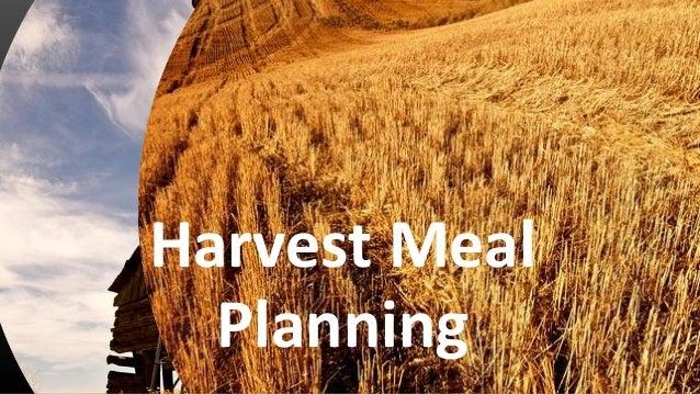 Harvest Meal Planning