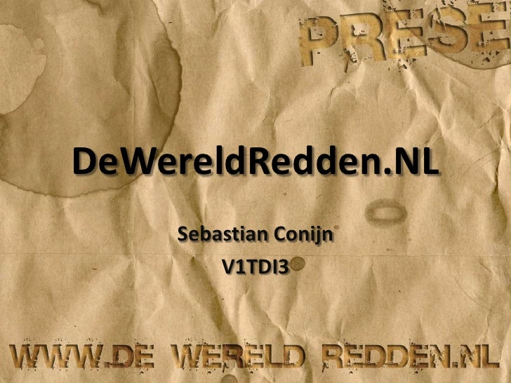 DeWereldRedden.NL<br />Sebastian Conijn<br />V1TDI3<br />