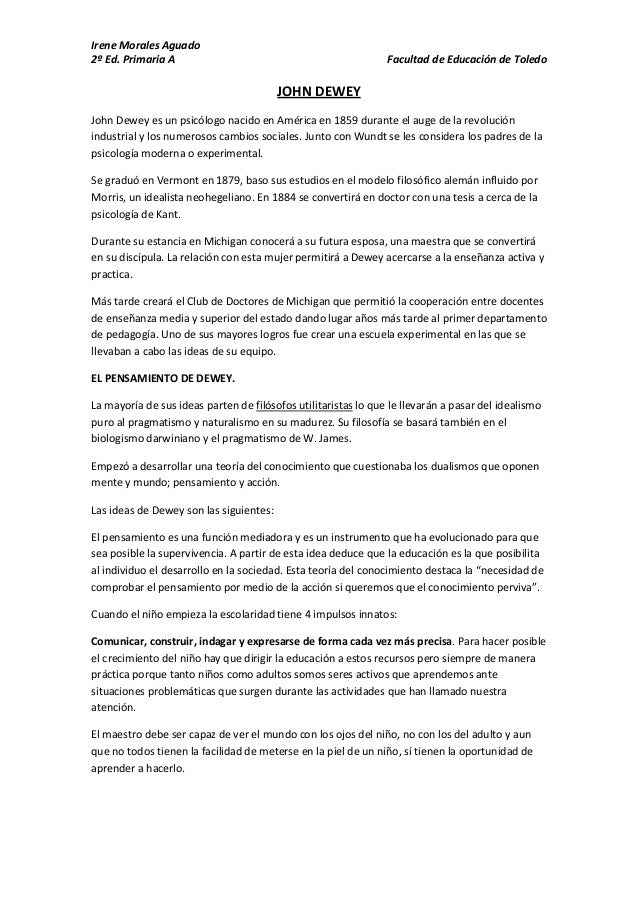 Irene Morales Aguado2º Ed. Primaria A                                               Facultad de Educación de Toledo       ...