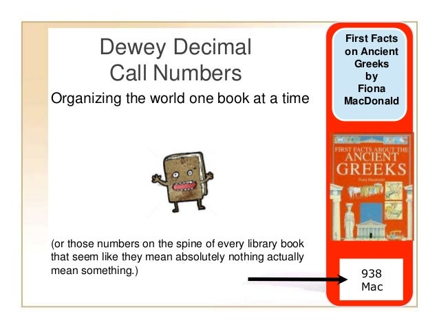 Dewey call numbers