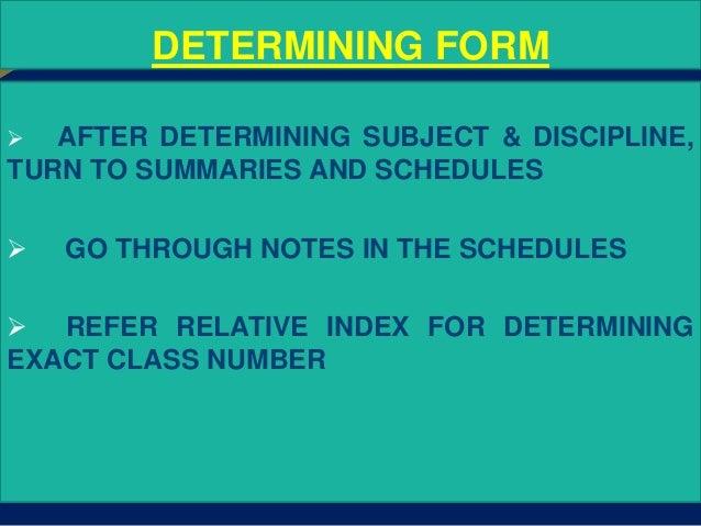 dewey decimal classification scheme pdf