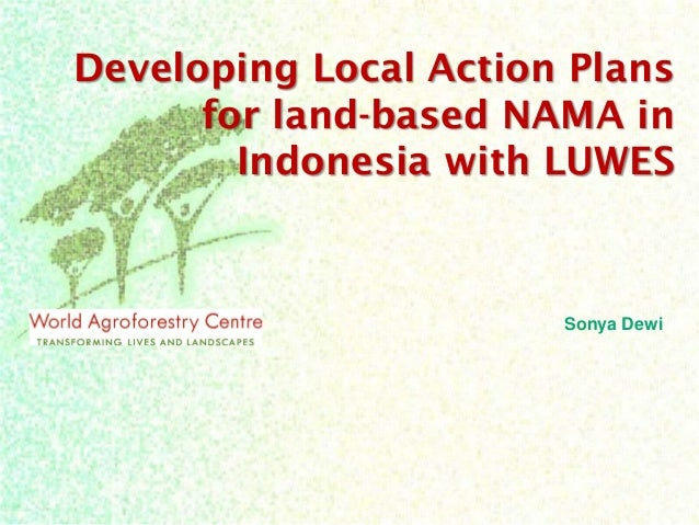 Developing Local Action Plans for land-based NAMA in Indonesia with LUWES  Sonya Dewi
