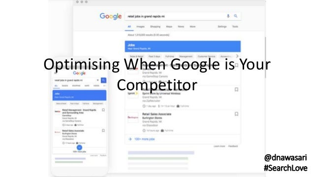 Optimising When Google is Your Competitor @dnawasari #SearchLove