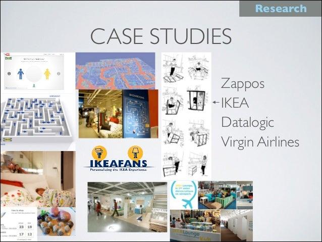 CASE STUDIES Zappos IKEA Datalogic Virgin Airlines Research