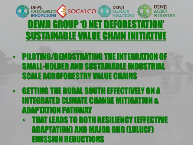 DEWJI GROUP '0 NET DEFORESTATION' SUSTAINABLE VALUE CHAIN INITIATIVE • PILOTING/DEMOSTRATING THE INTEGRATION OF SMALL-HOLD...
