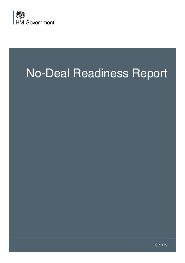 No-Deal Readiness Report CP 179
