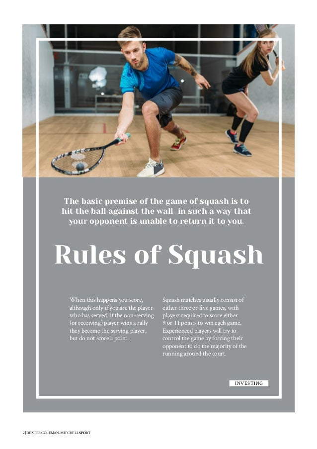 Dexter Coleman-Mitchell - Rules of Squash
