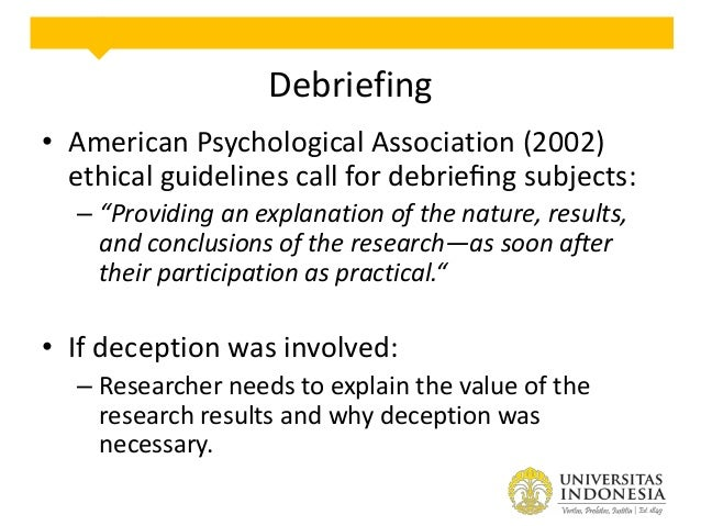 Debriefing Form: Sample » Institutional Review Board ...
