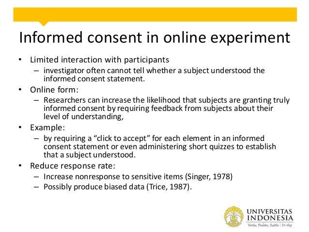Debriefing in online experiment