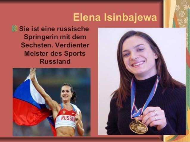 Elena Isinbajewa Sie ist eine russische Springerin mit dem Sechsten. Verdienter Meister des Sports Russland