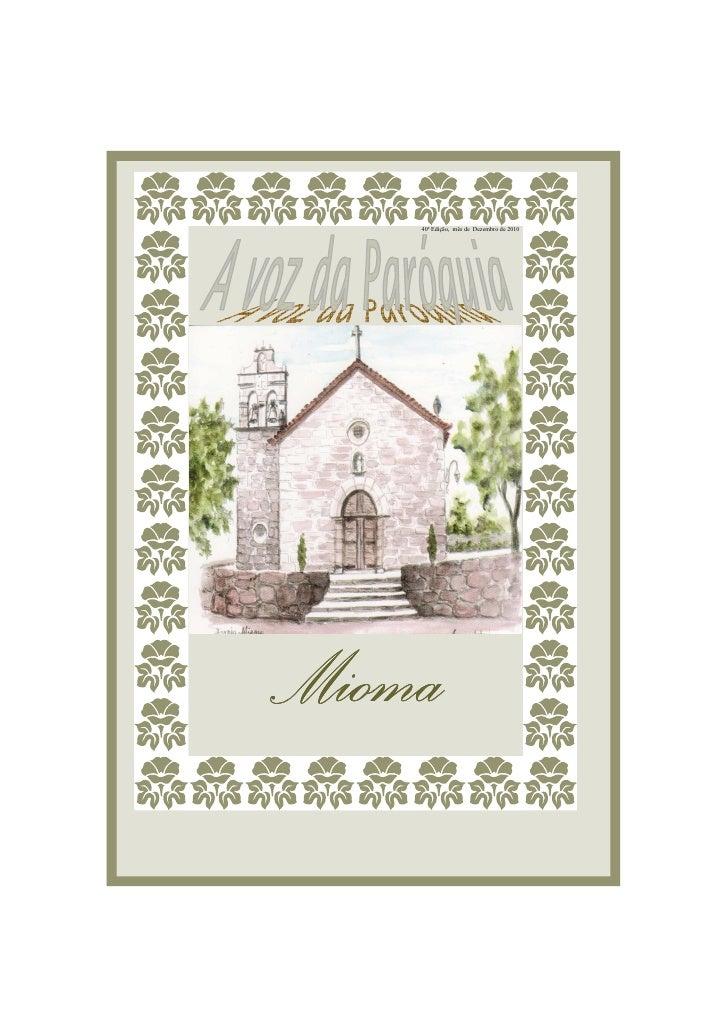 40ª Edição, mês de Dezembro de 2010Mioma