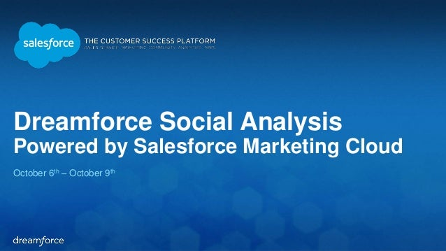 Dreamforce Social Analysis  Powered by Salesforce Marketing Cloud  October 6th – October 9th