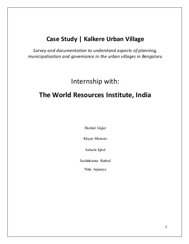 Case Study - Kalkere Urban Village
