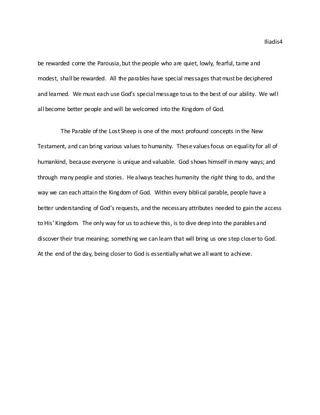 Kingdom of god essay