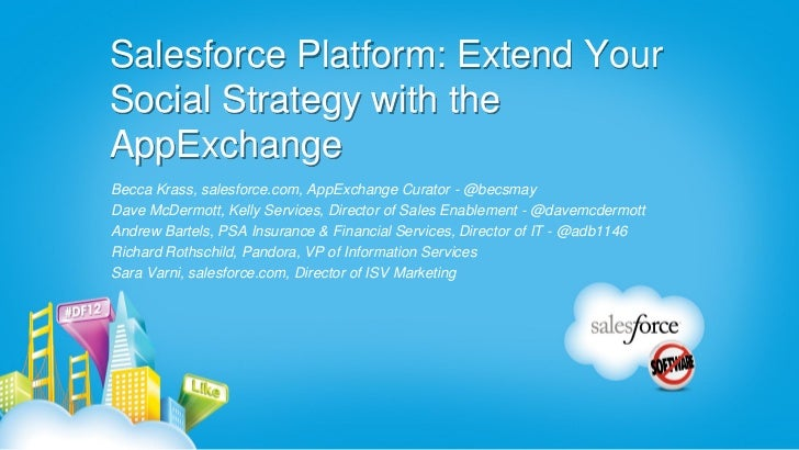 Salesforce Platform: Extend YourSocial Strategy with theAppExchangeBecca Krass, salesforce.com, AppExchange Curator - @bec...