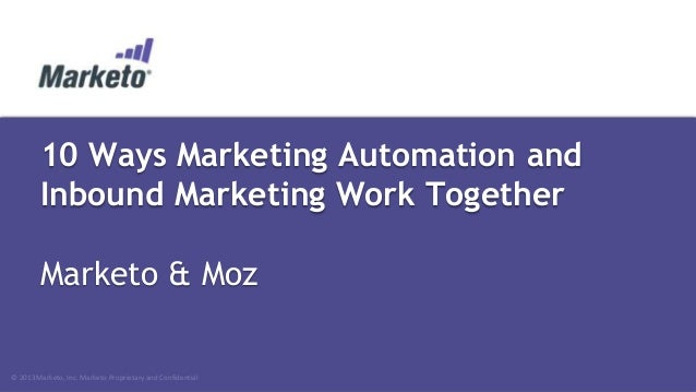 Dreamforce 2013 - 10 Ways Marketing Automation and Inbound Marketing Work Together