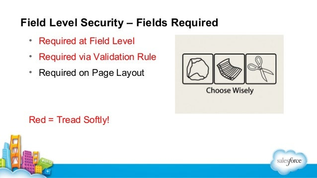 Field Level Security – Read Only • Read Only Page Layout • Read Only Profile Level • Don't forget to uncheck  • Read Only ...
