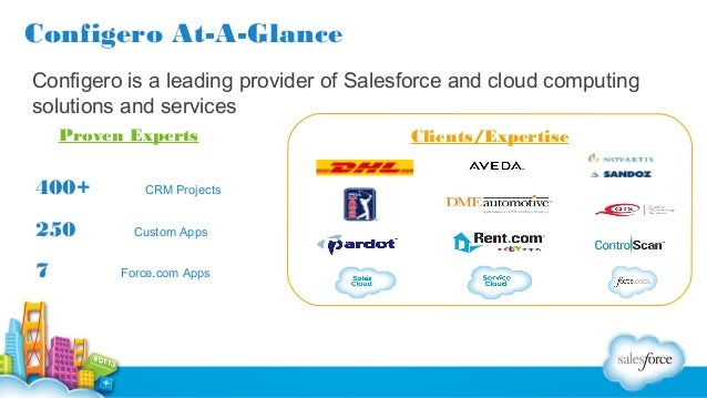 Configero At-A-Glance Configero is a leading provider of Salesforce and cloud computing solutions and services Proven Expe...