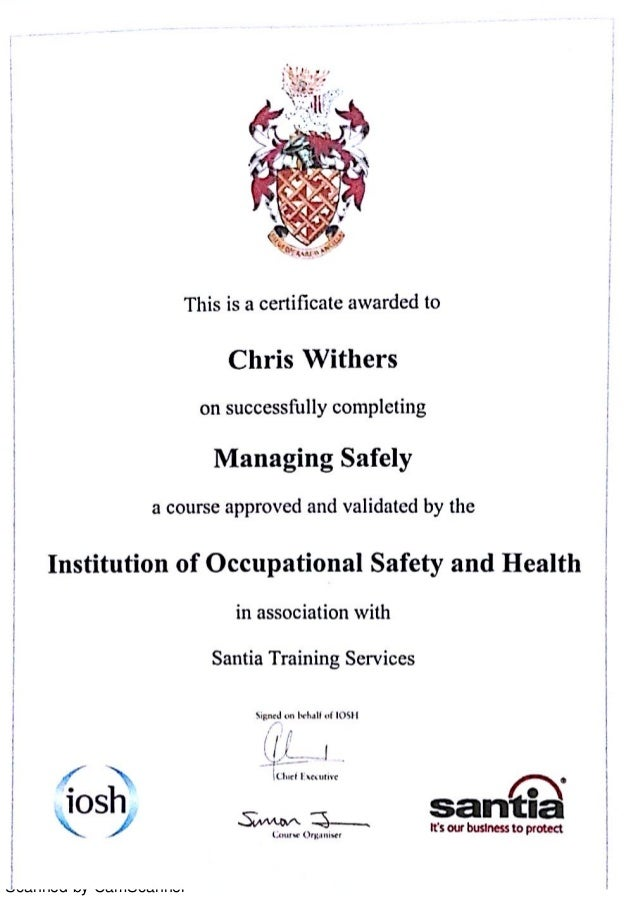 iosh managing safely project Iosh managing safely project - free download as pdf file (pdf), text file (txt) or view presentation slides online.