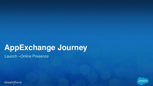 AppExchange Journey  Launch –Online Presence