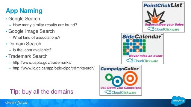 App Naming  • Google Search  – How many similar results are found?  • Google Image Search  – What kind of associations?  •...