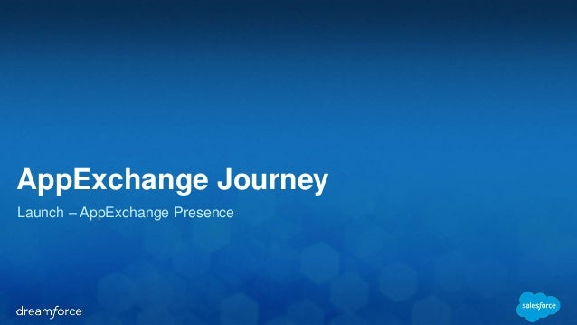 AppExchange Journey  Launch – AppExchange Presence