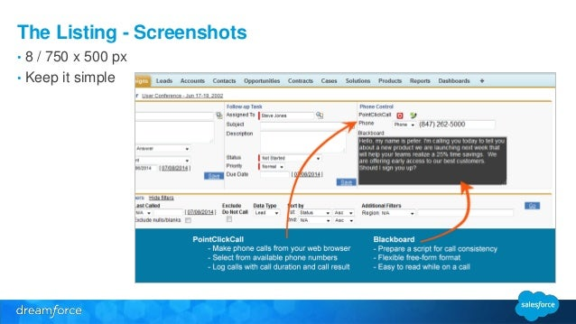 The Listing - Screenshots  • 8 / 750 x 500 px  • Keep it simple