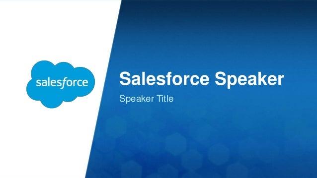 Non-Salesforce  Speaker  Speaker Title