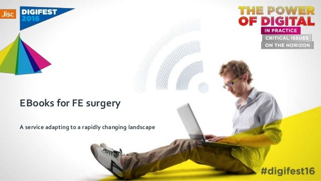 EBooks for FE surgery A service adapting to a rapidly changing landscape