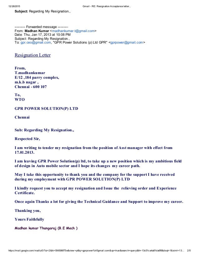Gmail re resignation acceptance letter expocarfo Image collections