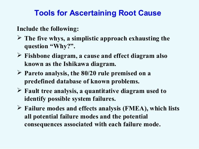 Capa, Root Cause Analysis And Risk Management