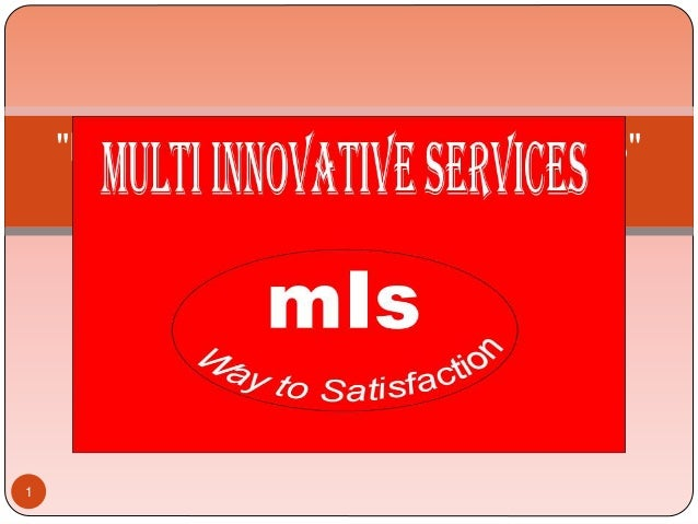 """MULTI INNOVATIVE SERVICES"" INTRODUCTION 1"