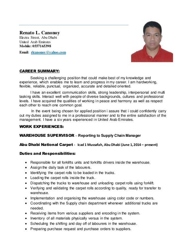 Renato New Cv Updated october2014