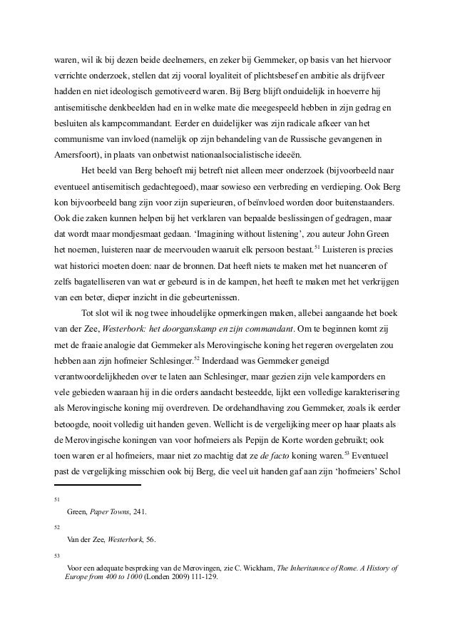 Holocaust Thesis Statement