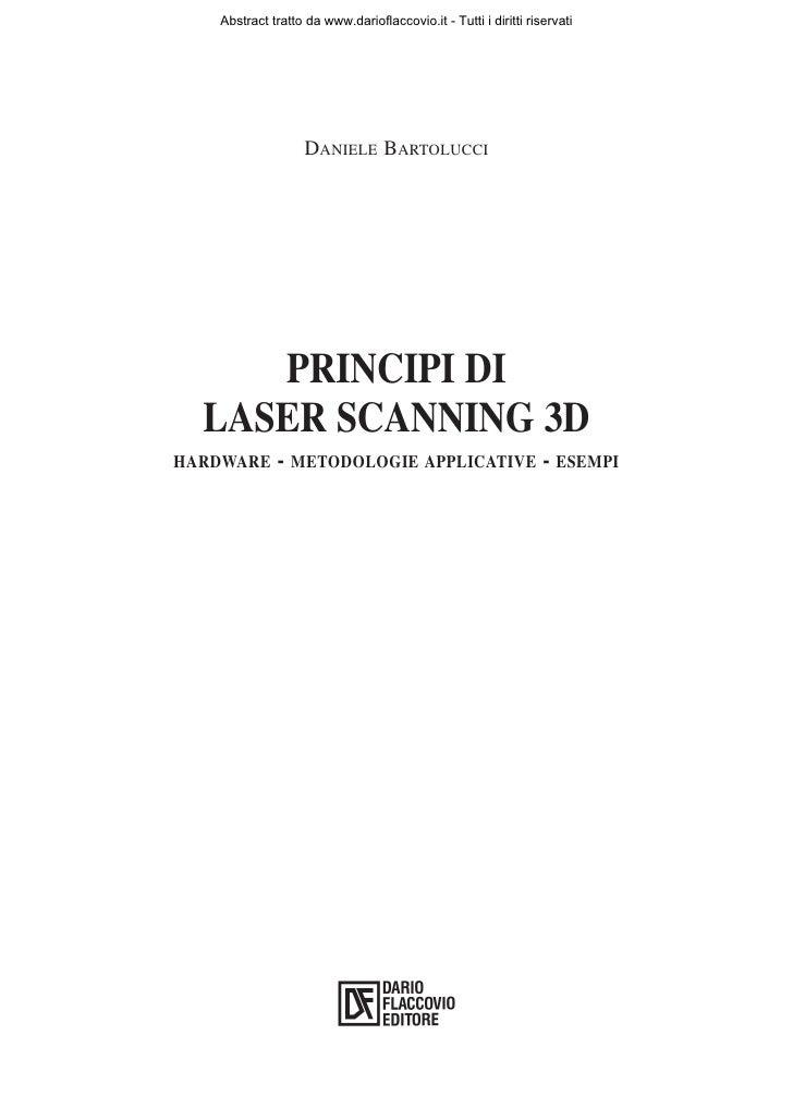 Abstract tratto da www.darioflaccovio.it - Tutti i diritti riservati                        DANIELE BARTOLUCCI          PR...