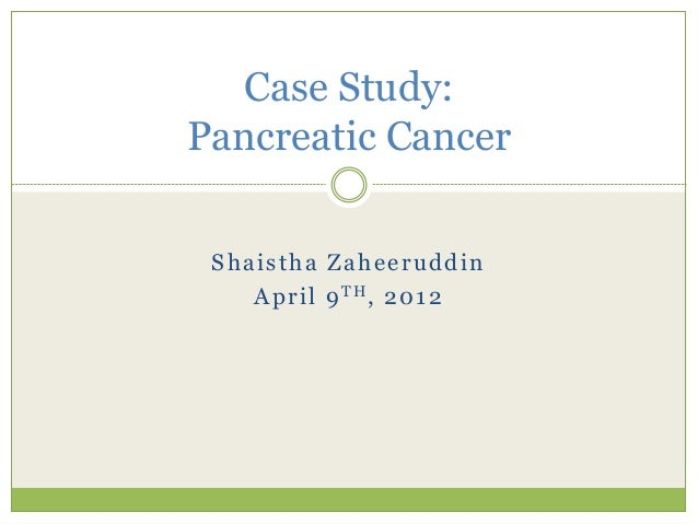 pancreatic cancer case study-nursing