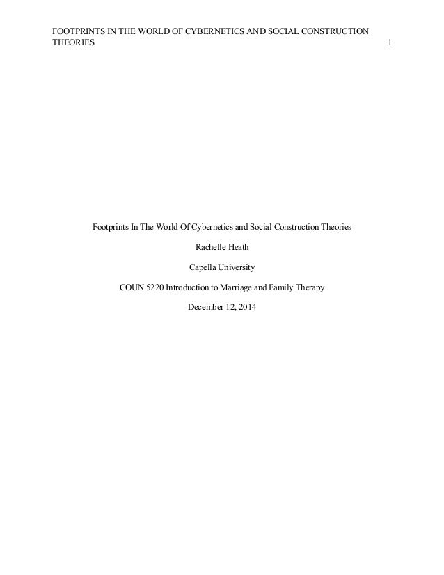 FOOTPRINTS IN THE WORLD OF CYBERNETICS AND SOCIAL CONSTRUCTION THEORIES   1                           ...