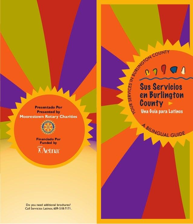 Presentado Por Presented by Moorestown Rotary Charities Financiado Por Funded by Do you need additional brochures? Call Se...